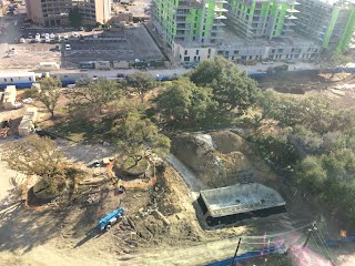 View from above the Kirby Grove construction.